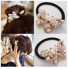 bungees hair 2017 brand hot selling butterfly bungees chic pearl bands women