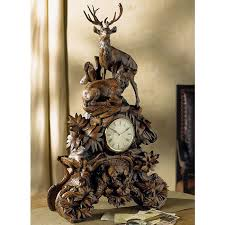 Blackforest Decor Black Forest Stag Clock