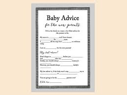 to be advice cards baby advice cards for new parents baby mad lib advice for