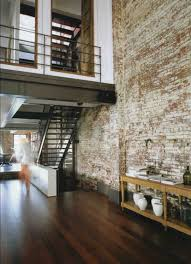Rustic Interiors by Facebrick Feature Wall Loft Inversion Industrial Design