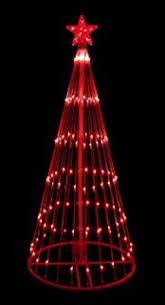 amazon com 6 u0027 blue led light show cone christmas tree lighted
