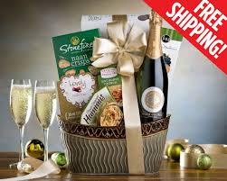 gift baskets free shipping chagne gift basket free shipping hummus wine biscuits chagne