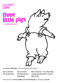 pigs colouring sheets northern ballet