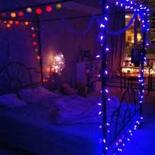 bedrooms with christmas lights christmas lights in bedroom white platform bed frame natural brown