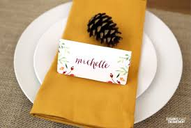 thanksgiving place card and tent card printables