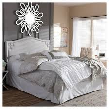 aubrey modern and contemporary fabric upholstered headboard