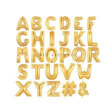 letter balloons 14 metallic gold letter balloons gold mylar letter