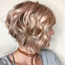 layered inverted bob hairstyles wavy inverted bob with a hint of pink hair i love pinterest