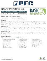 pec basic refresher elearning course u2013 pander training and
