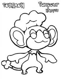 pokeman pansear coloring pages pokemon coloring pages