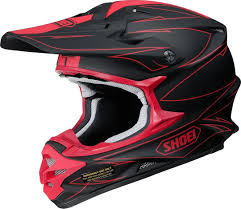 black motocross helmet shoei vfx w hectic motocross helmet black red shoei vfx w