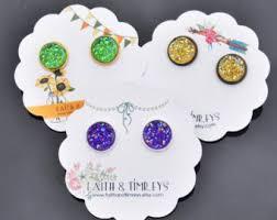 mardi gras earrings mardi gras earrings new orleans earrings fleur de lis