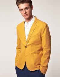 Yellow Mustard Color Asos Asos Slim Fit Blazer In Mustard In Yellow For Men Lyst