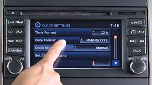 2015 nissan frontier setting the clock youtube