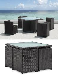 Rattan Outdoor Patio Furniture by Furnishing A Small Condo Balcony Without Sacrificing Style