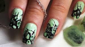 mint green u0026 black butterfly lace nail art tutorial youtube