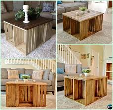 Wood Coffee Table Designs Plans by Best 25 Wood Crate Table Ideas On Pinterest Crate Table Wood