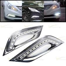 2x led daytime running fog light drl for hyundai sonata i45 2011