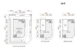 floor plan type a1 3 storey detached factory ibp nusajaya