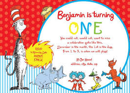 dr seuss birthday invitations awesome dr seuss invitations for 1st birthday this