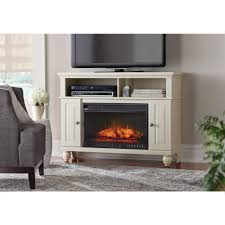 alford 48 in w media stand electric fireplace in glazed pine