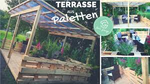 terrasse aus paletten selber bauen palettenmöbel europaletten