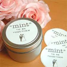 mint to be wedding favors mint to be together favor tins favor tins favor packaging