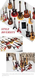miniature wood guitar ornament that different size miniature