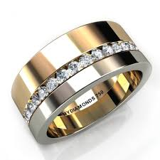 mens diamond wedding band aramis men s diamond two tone ring 0 40 carats