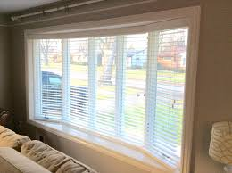 bay window blind decor window ideas