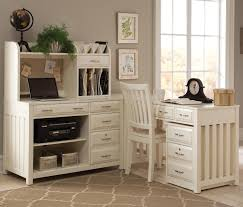 White Wood Computer Desk Furniture Wooden L Shaped Desk With Hutch Plus Drawer And