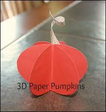 Fall Homemade Decorations - 3d paper pumpkins fall crafts
