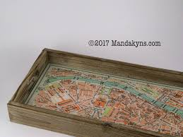 vanity trays for perfume paris city map wooden vanity tray with glass top accessory