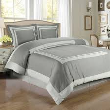 amazon com hotel gray and light gray 3 piece full queen