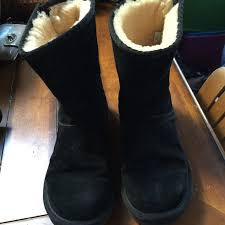 ugg s zip boots 82 ugg shoes used black size 7 uggs zip up boots w metal