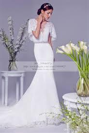 rico a mona mermaid wedding dresses backless vintage lace