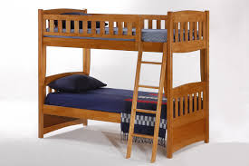 Bedroom  Twin Size Oak Bunk Bed With Ladder For Kids Solid Wood - Oak bunk beds for kids