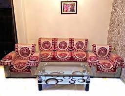 buy maroon berry chenille sofa slipcover set with 6 arms cover