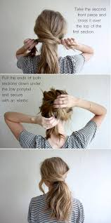 Easy Hairstyles For Medium Hair At Home by Hair Tutorial Messy Crossover Pony Truelane Updos Hair Style
