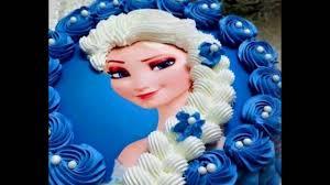 inilah contoh hiasan kue elsa frozen inspiratif