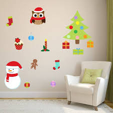 Christmas Wall Pictures by Christmas Wall Stickers Wall Art Kids
