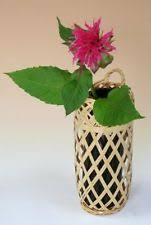Bamboo Wall Vase Japanese Wall Vase Ebay