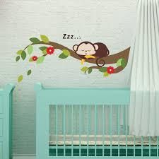wall stickers uk wall art stickers kitchen wall stickers ws3044 sleeping monkey and tree branch