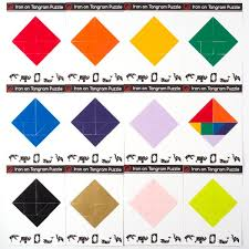 tangram puzzle iron on tangram puzzle kit monmade