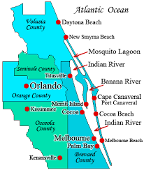 melbourne fl map melbourne boat rentals and fishing charters guide