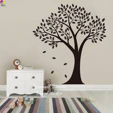 compare prices on tree wall decal for nursery online shopping buy cartoon big tree wall sticker baby nursery living room large tree leaf branch christmas gift wall