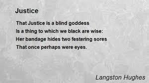 Blind Justice Meaning Justice Poem By Langston Hughes Poem Hunter