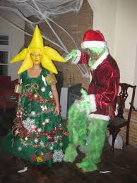 homemade christmas tree and grinch costumes costume pop