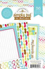 4x6 photo album inserts doodlebug design