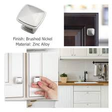 kitchen cabinets with silver handles modern silver knobs and pulls for kitchen bathroom 8791snb